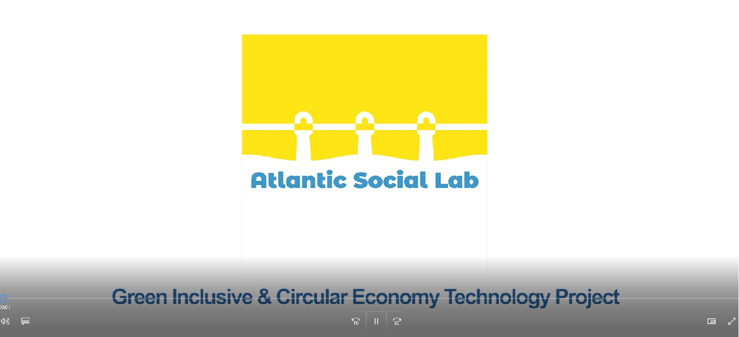 "Enterprise North West records a video to show the ""Green Inclusive & Circular Economy Technology Project""."