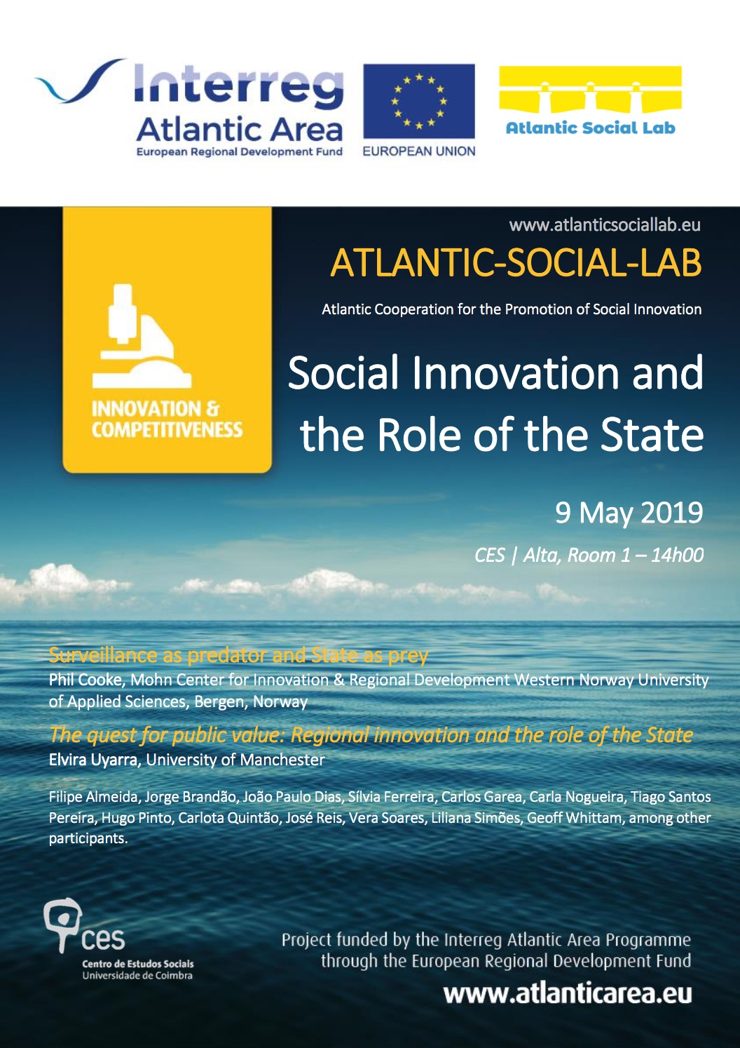 Workshop Report: Social Innovation and the role of State. Coimbra 9th May 2019